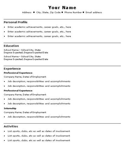 college graduate resume example sample the resume here is without experience but it can be college - Resume For College Graduate