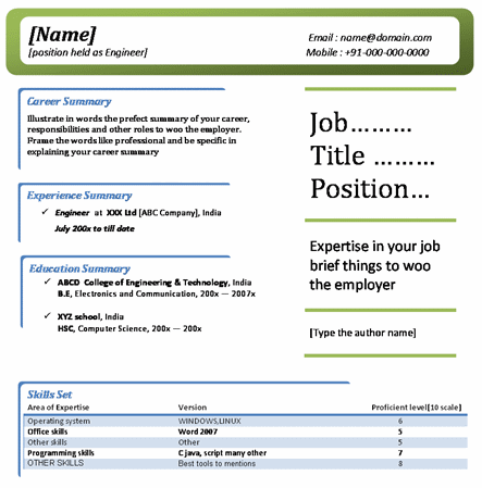 it professional resume - It Professional Resume