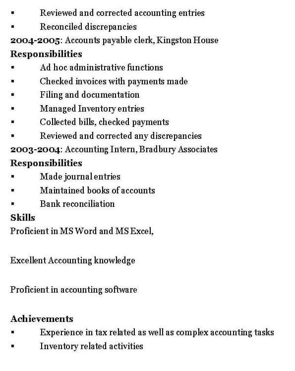 Senior Accountant Resume Template