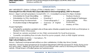 Film Industry Intern Resume Template