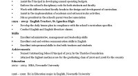 Sample school principal-administrator cv template