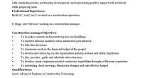 construction manager cv template