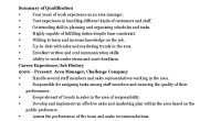 area manager cv template