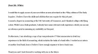bank job cover letter template