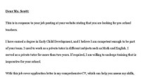 job rume cover letter