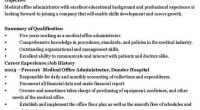 Medical Office Administrator CV